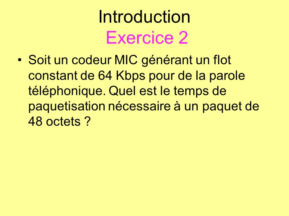 Introduction Exercice 2