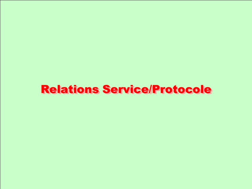 Relations Service/Protocole