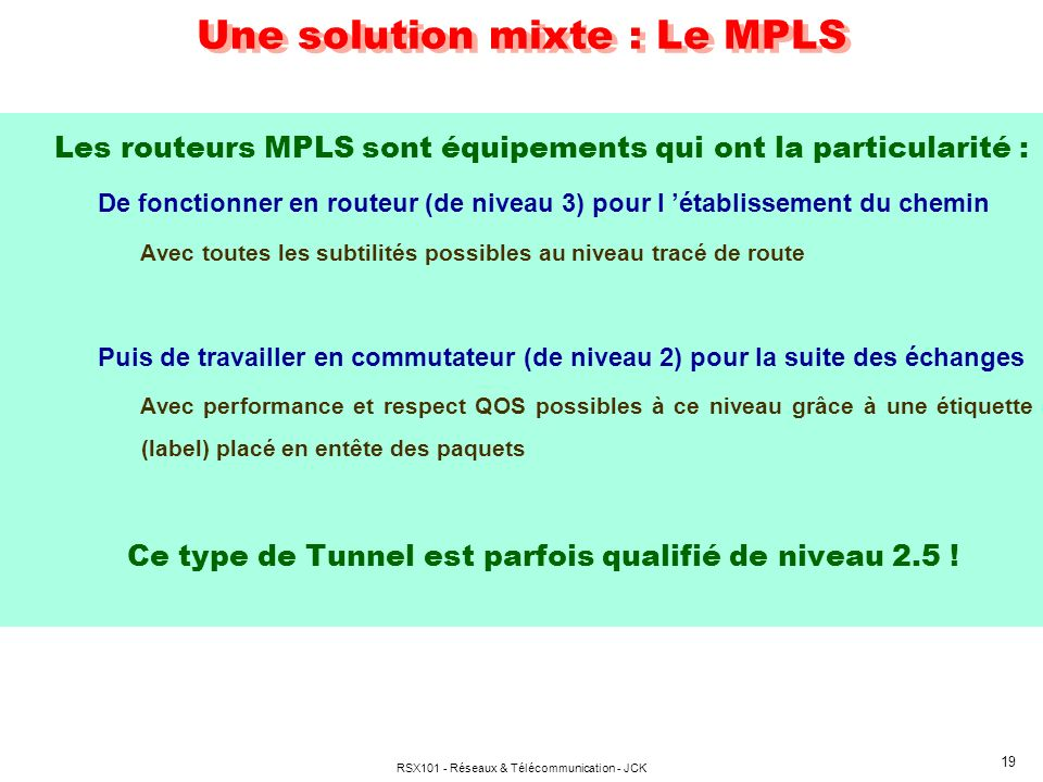 Une solution mixte : Le MPLS