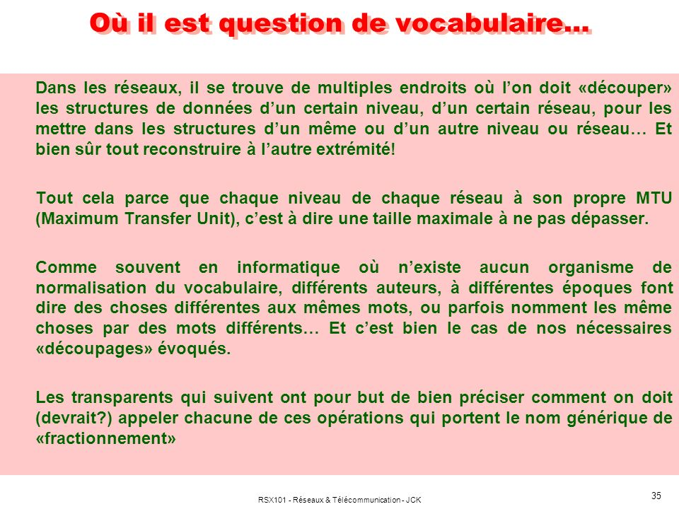 Où il est question de vocabulaire…