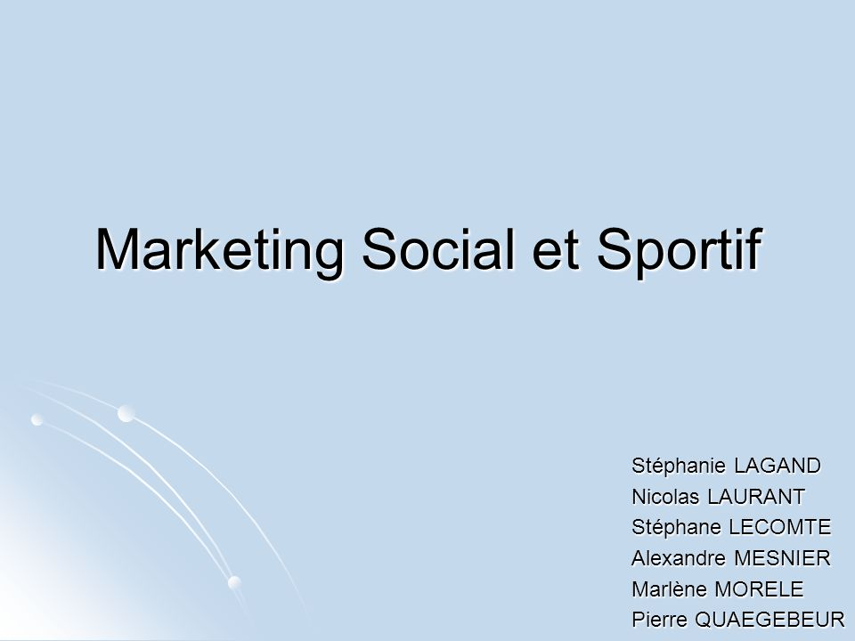 Marketing Social et Sportif