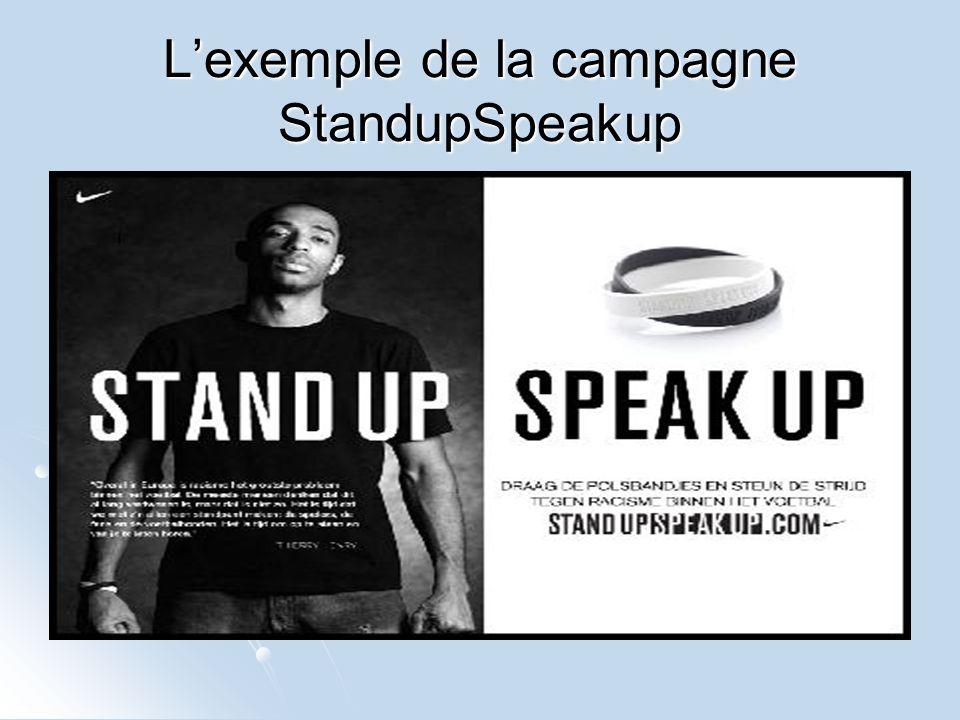 L'exemple de la campagne StandupSpeakup