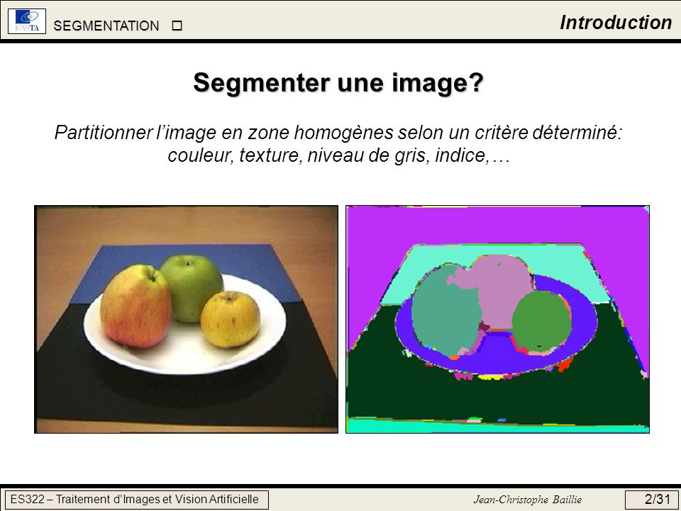 Segmenter une image Introduction