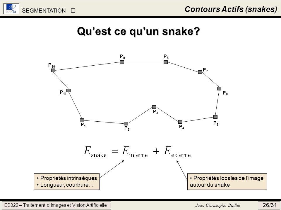 Qu'est ce qu'un snake Contours Actifs (snakes)