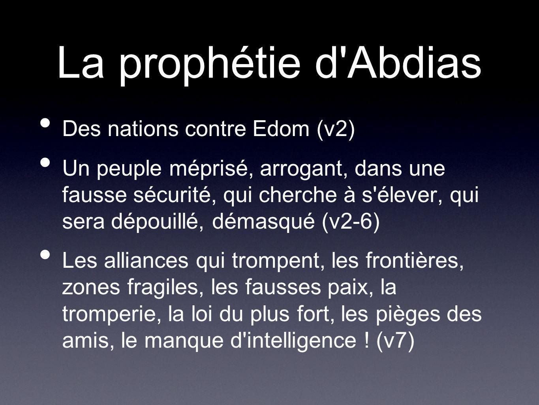 La prophétie d Abdias Des nations contre Edom (v2)