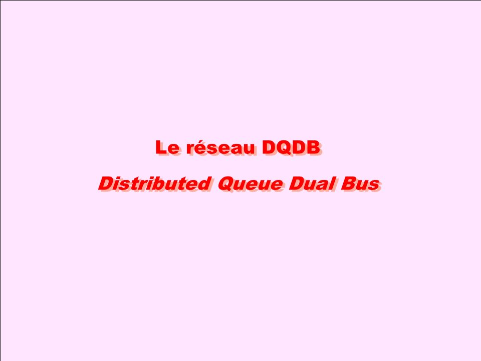 Le réseau DQDB Distributed Queue Dual Bus