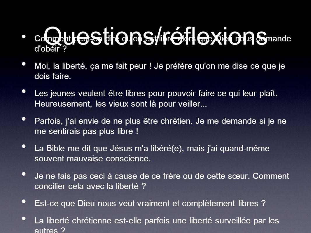 Questions/réflexions