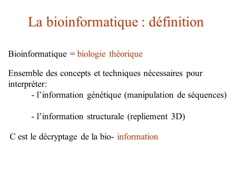La bioinformatique : définition