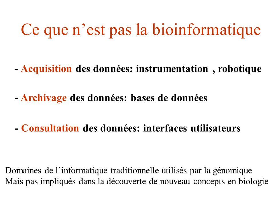 Ce que n'est pas la bioinformatique