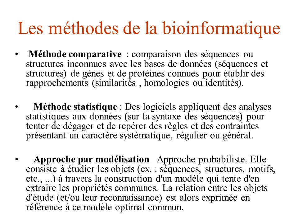 Les méthodes de la bioinformatique