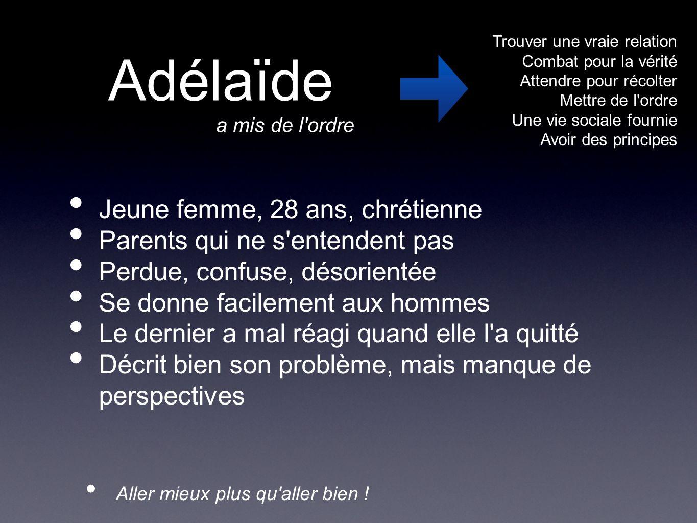 Adélaïde Jeune femme, 28 ans, chrétienne