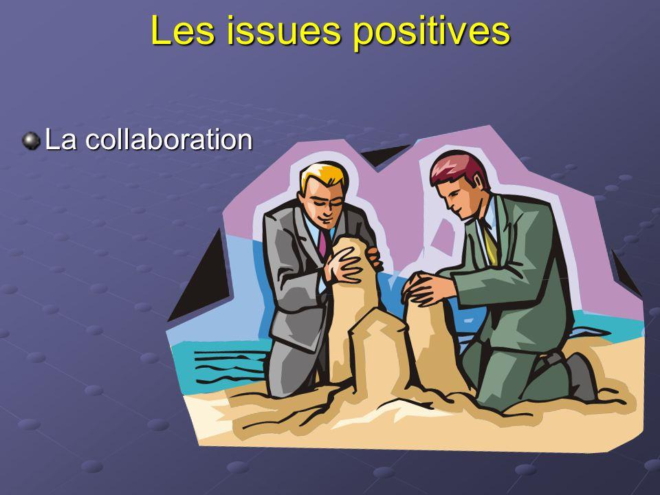 Les issues positives La collaboration