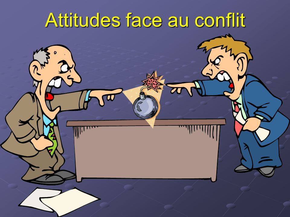 Attitudes face au conflit