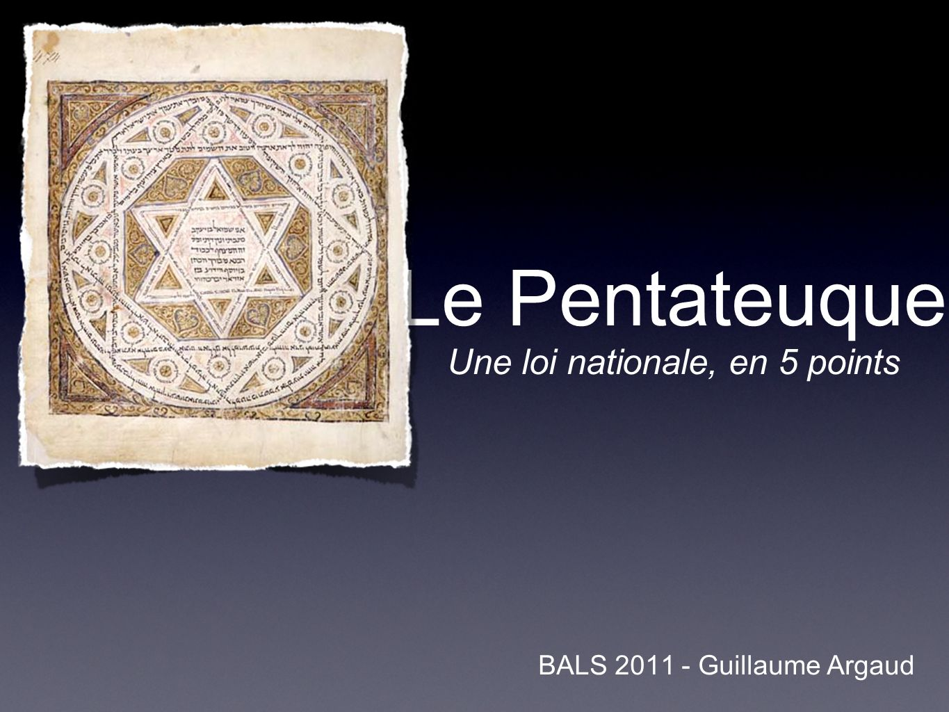 Une loi nationale, en 5 points