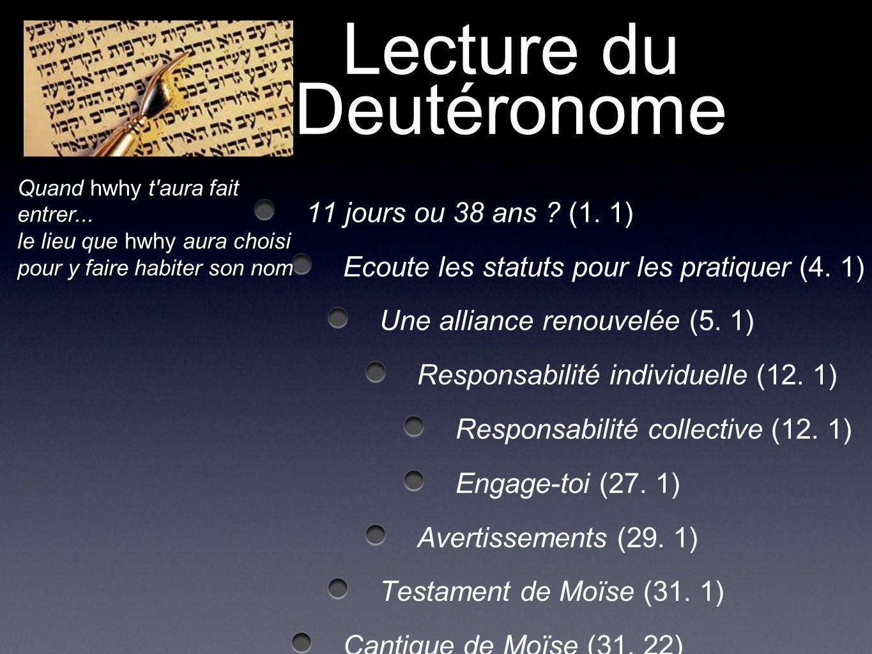 Lecture du Deutéronome
