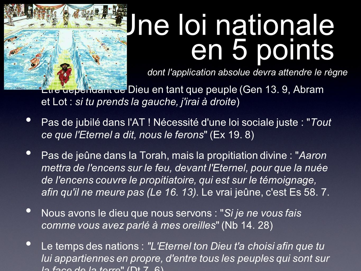 Une loi nationale en 5 points