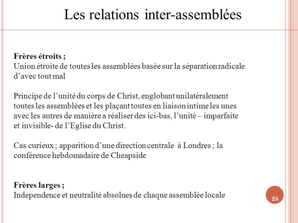 Les relations inter-assemblées