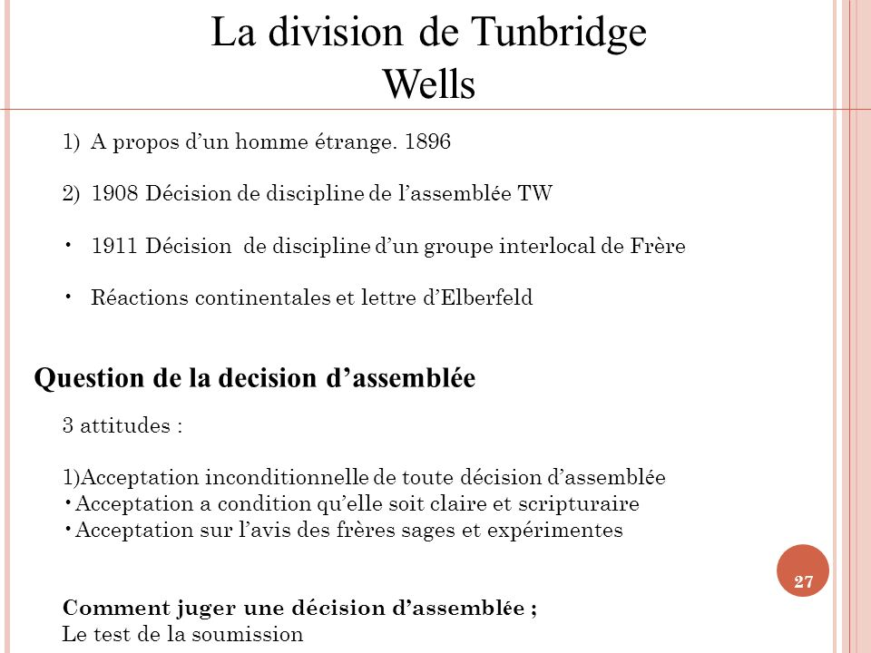 Question de la decision d'assemblée