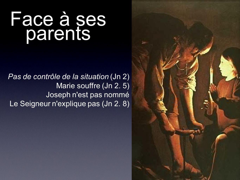 Face à ses parents Pas de contrôle de la situation (Jn 2)