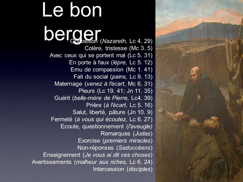 Le bon berger Opposition (Nazareth, Lc 4. 29)