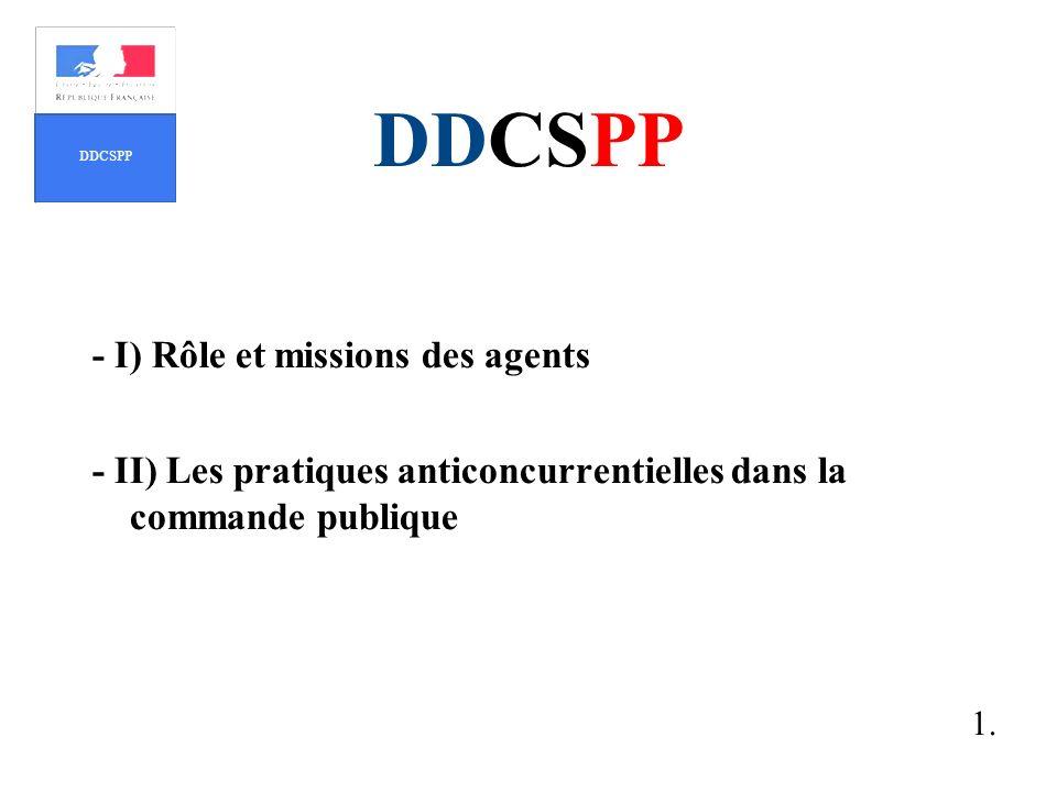 DDCSPP - I) Rôle et missions des agents