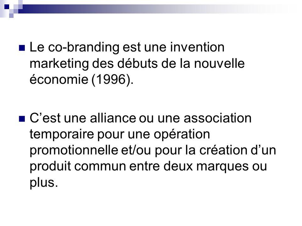Le co-branding est une invention marketing des débuts de la nouvelle économie (1996).