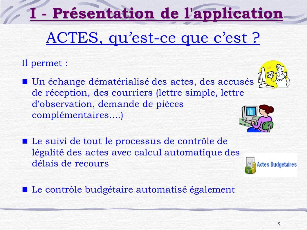 I - Présentation de l application