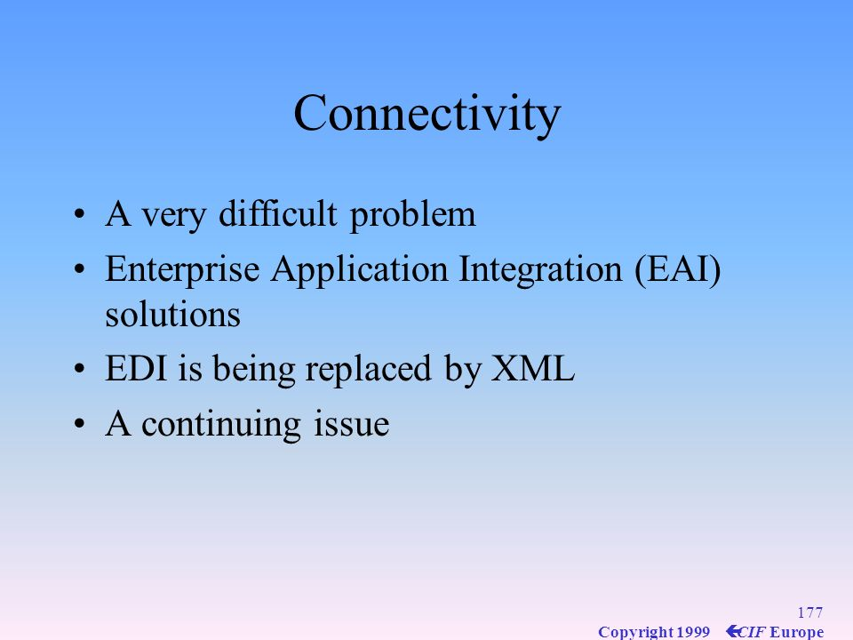 Connectivity A very difficult problem