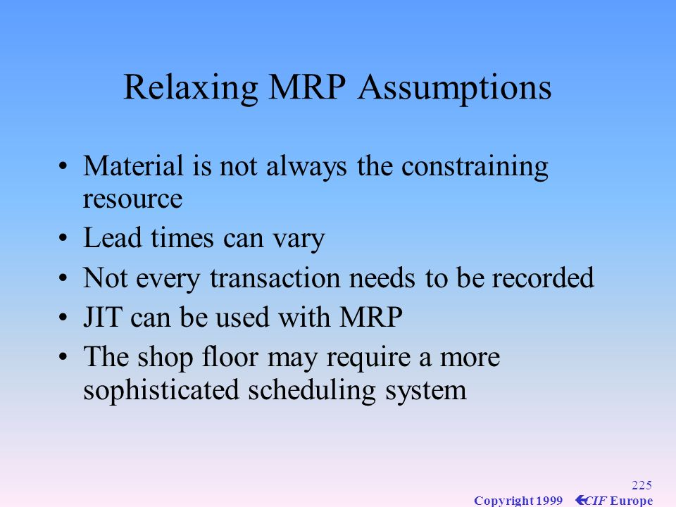 Relaxing MRP Assumptions