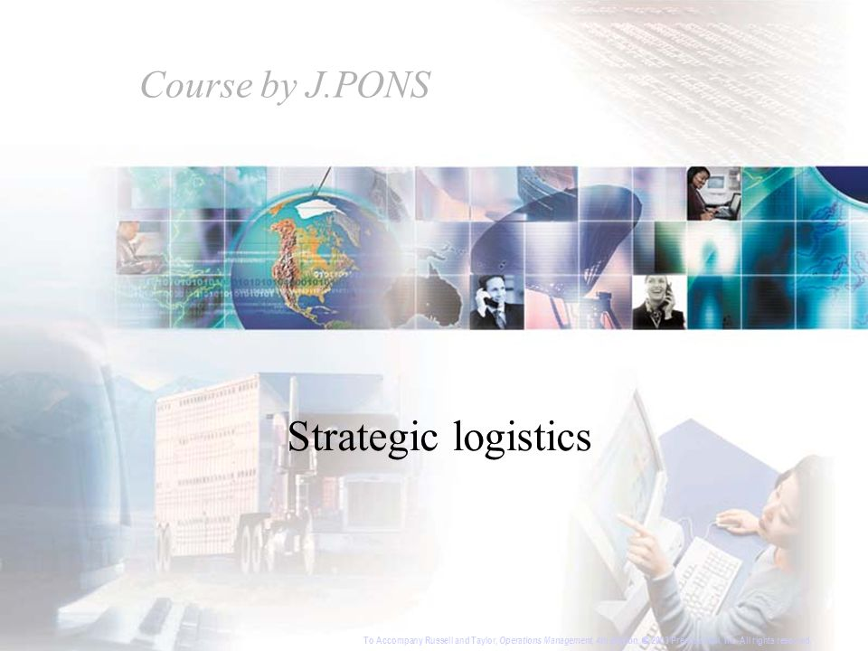 Strategic logistics Course by J.PONS