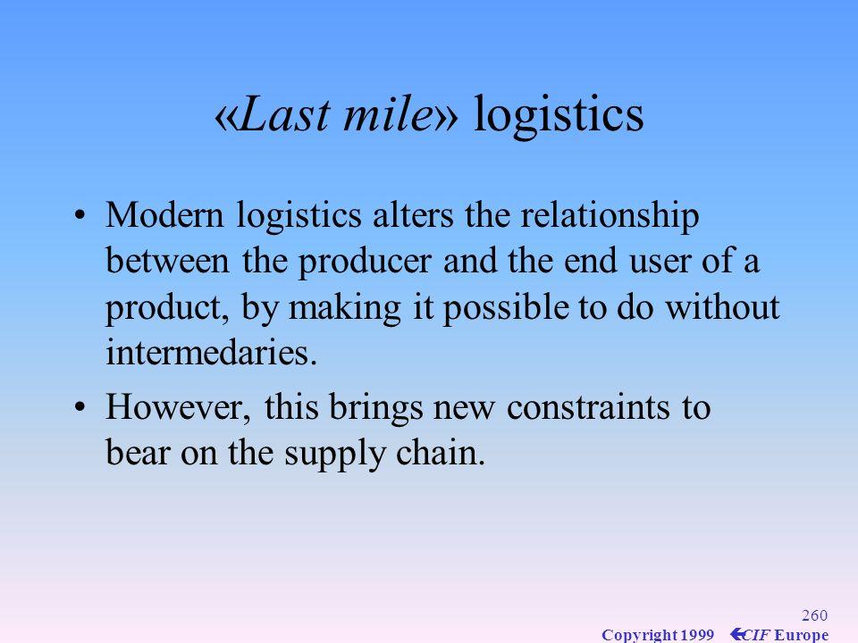 «Last mile» logistics