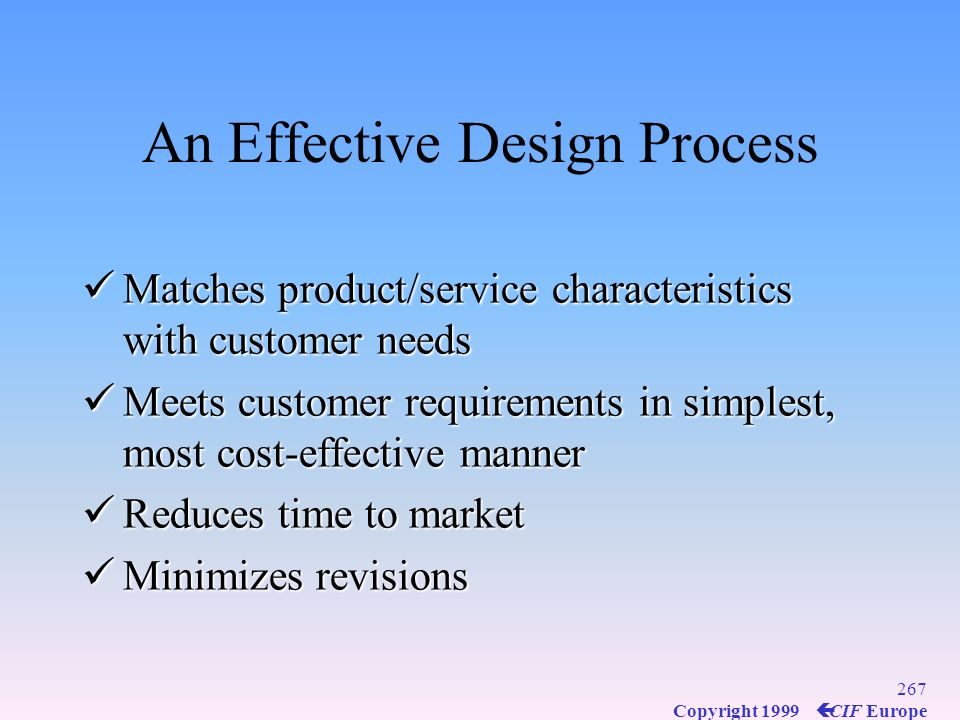 An Effective Design Process