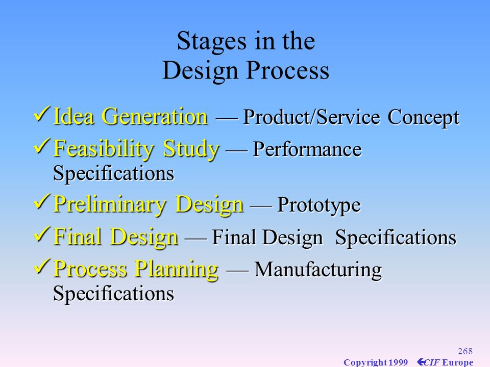 Stages in the Design Process