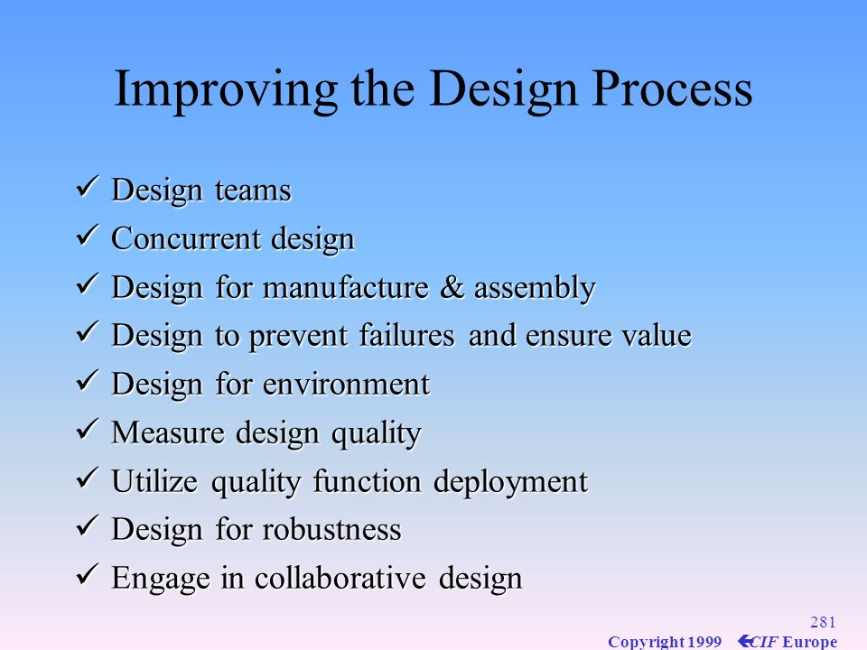 Improving the Design Process