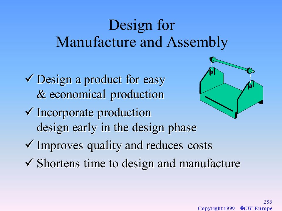 Design for Manufacture and Assembly