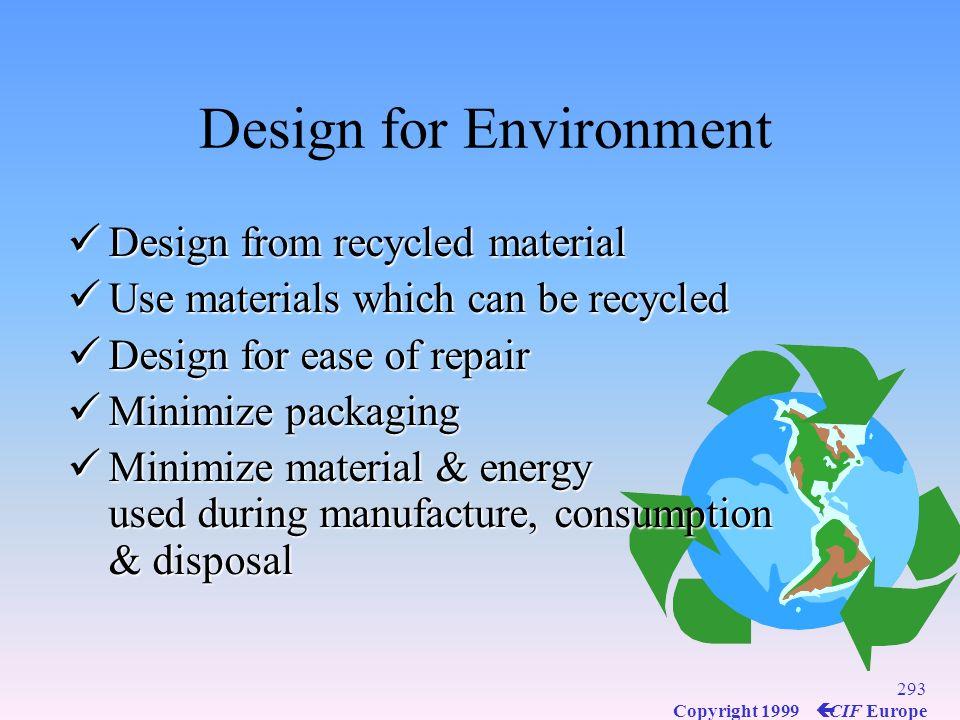 Design for Environment