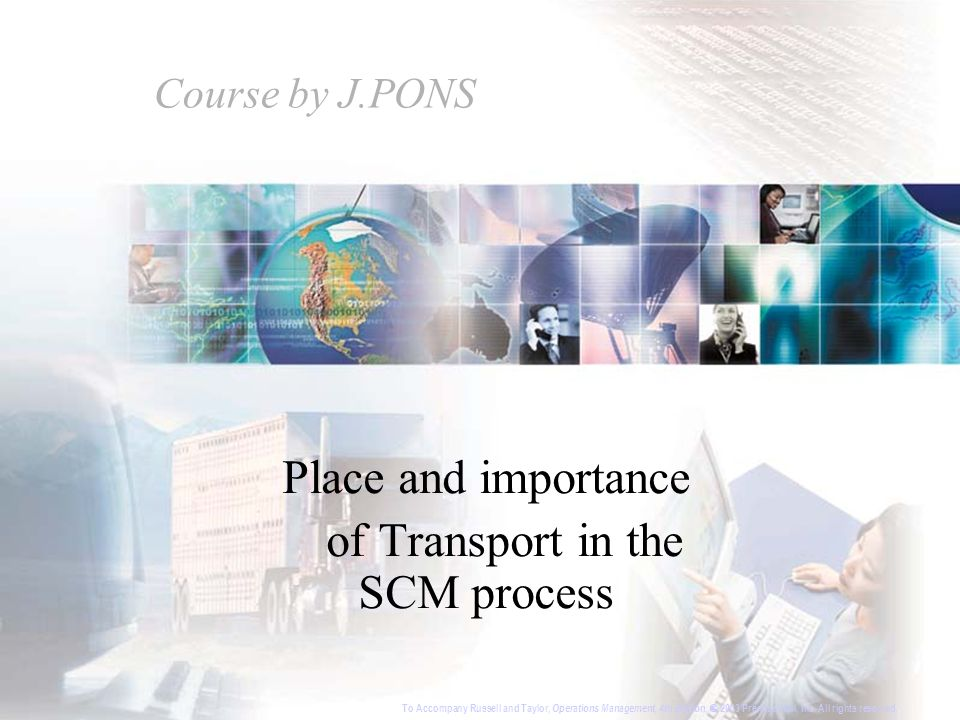 Place and importance of Transport in the SCM process