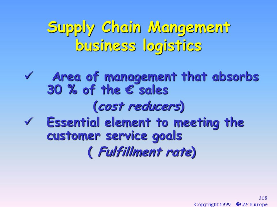 Supply Chain Mangement business logistics