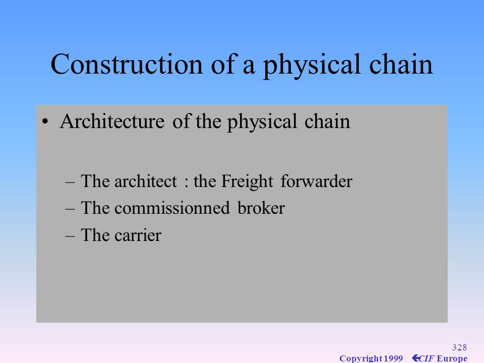 Construction of a physical chain
