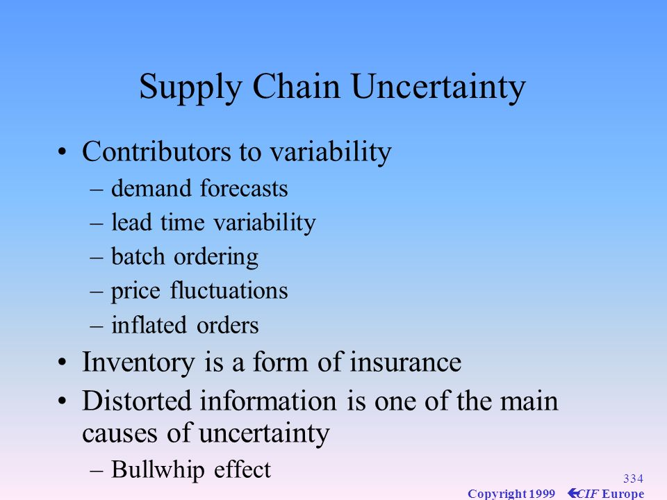 Supply Chain Uncertainty