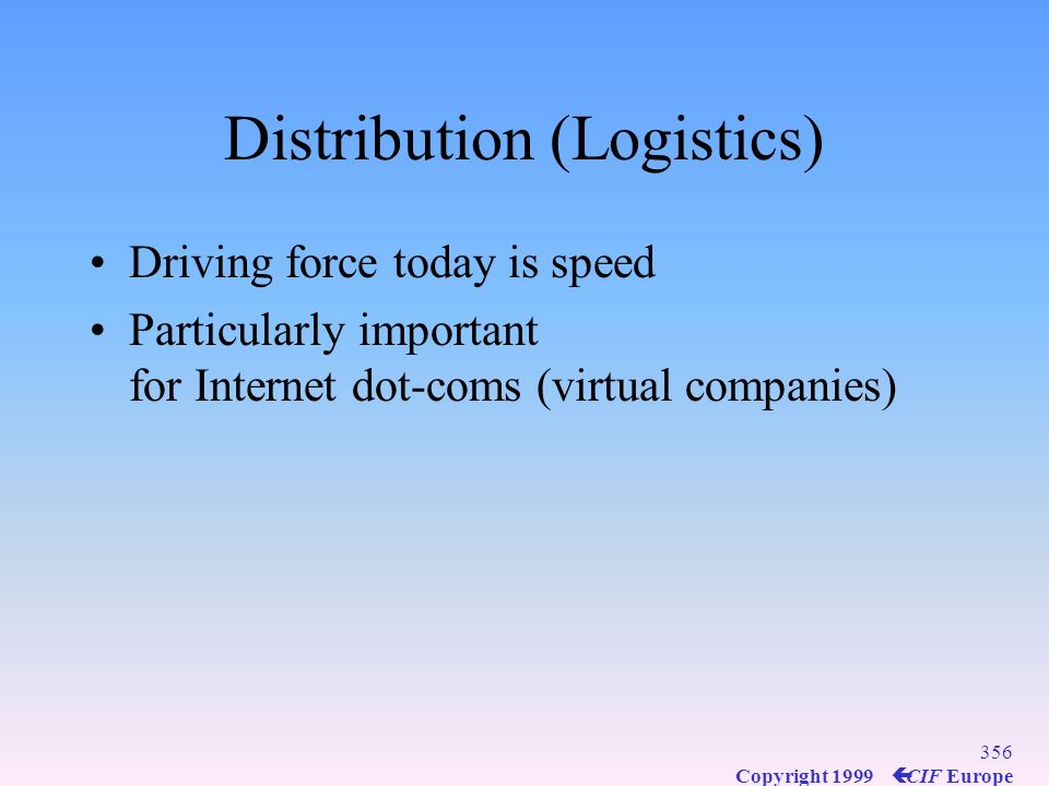 Distribution (Logistics)