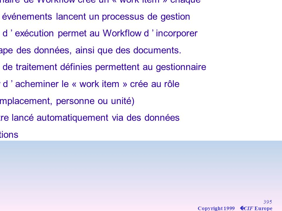Les Modules R/3 de SAP : WorkFlow (WF)