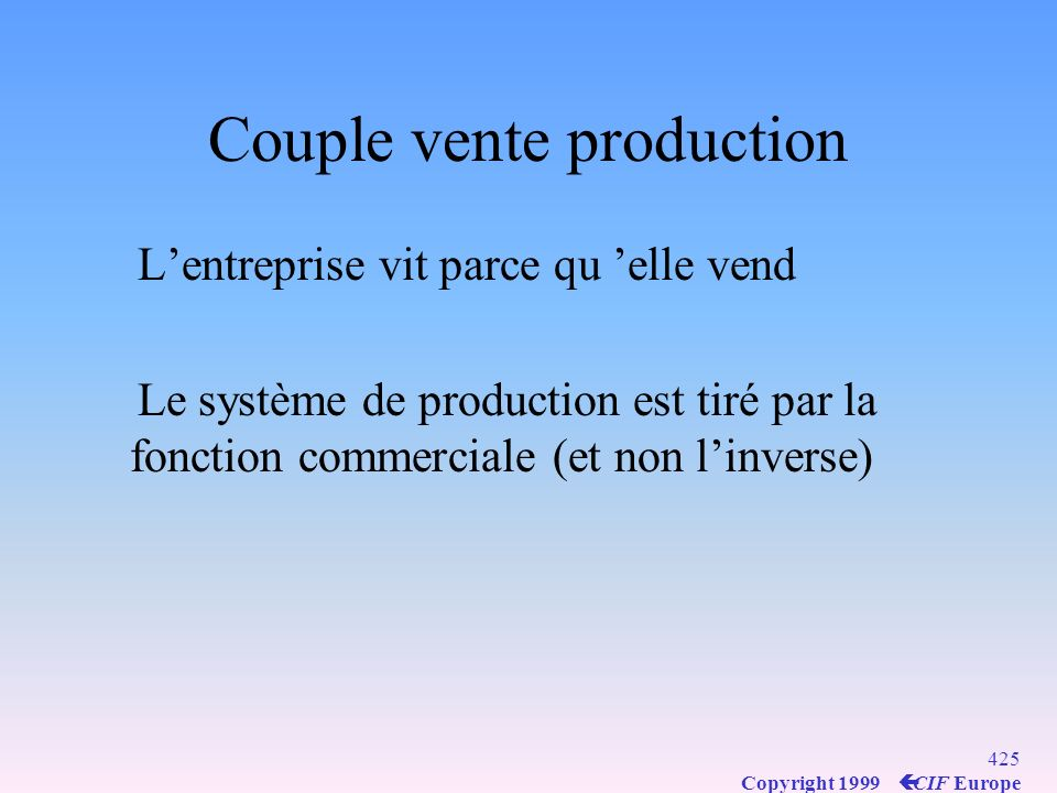 Couple vente production