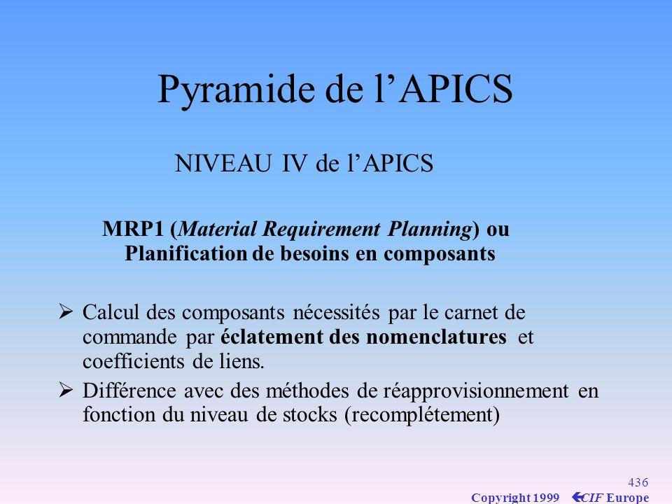 Pyramide de l'APICS NIVEAU IV de l'APICS