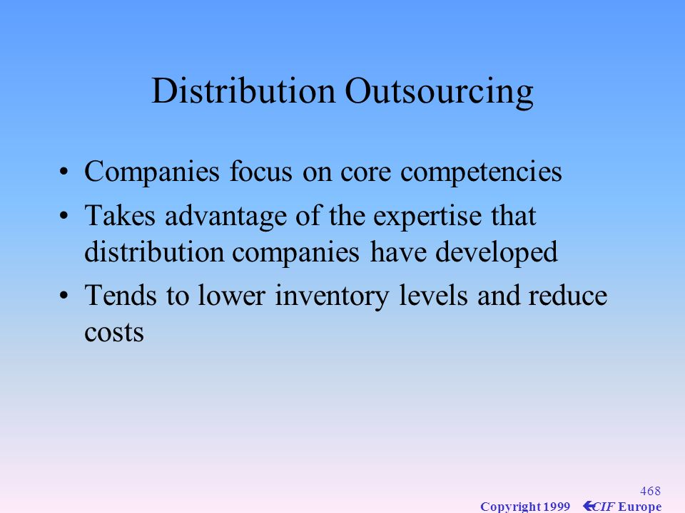 Distribution Outsourcing