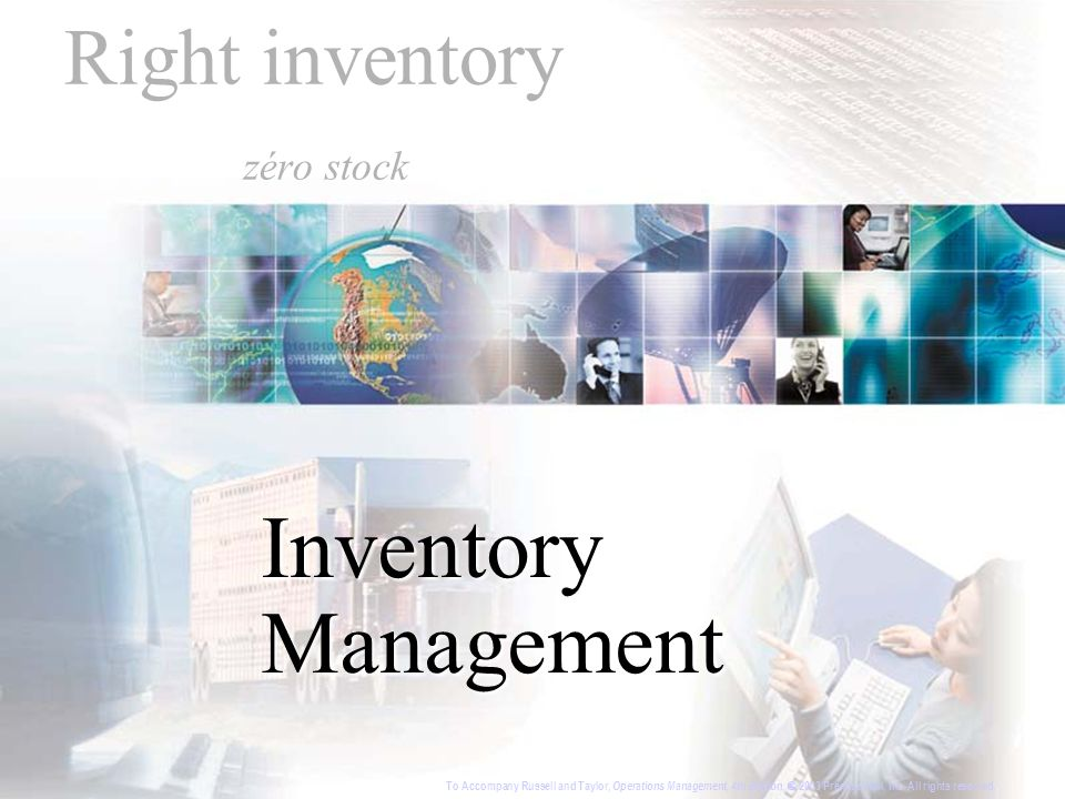 Right inventory zéro stock