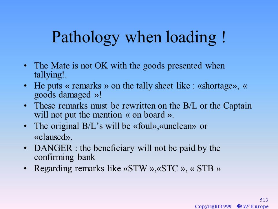 Pathology when loading !