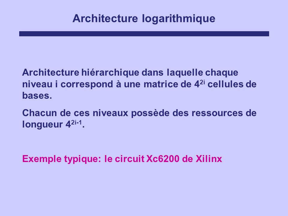 Architecture logarithmique