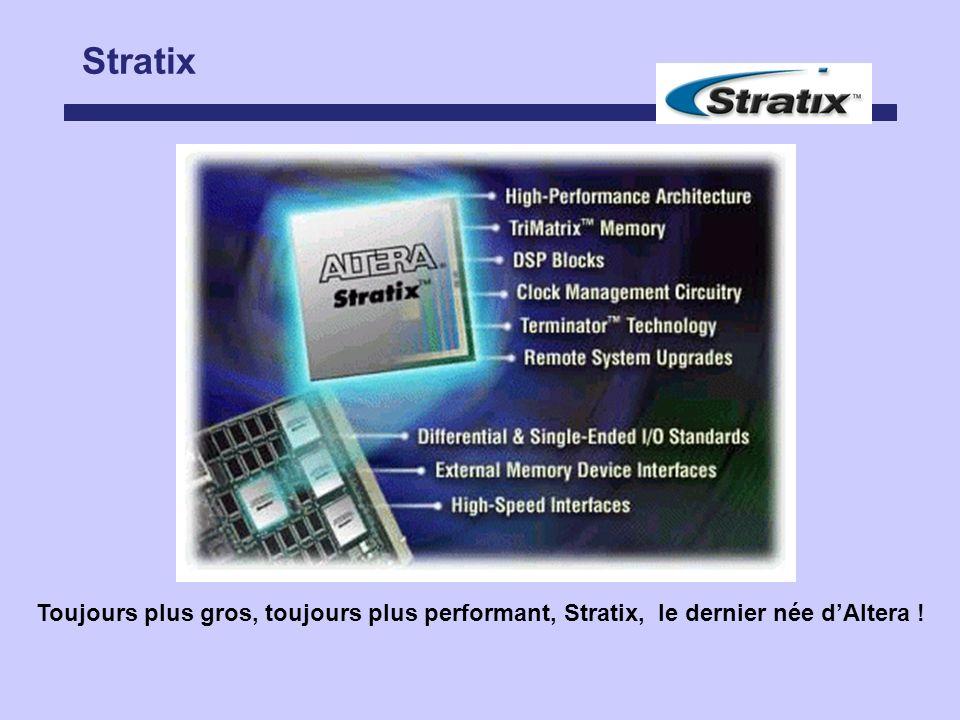 Stratix Toujours plus gros, toujours plus performant, Stratix, le dernier née d'Altera !