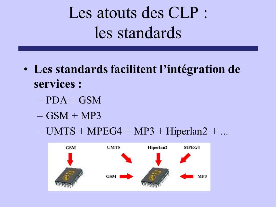 Les atouts des CLP : les standards